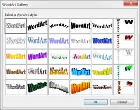 Classic wordart styles gallery word 2003 2007