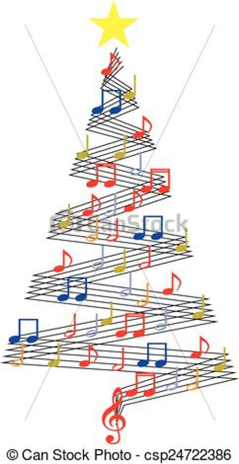 musical notes christmas tree image tree vector clip instant csp24722386