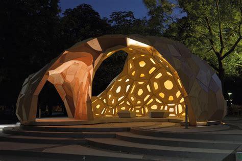 Pavillon Uni Stuttgart by Der Zw 246 Lf Meter Durchmessende Pavillon Am Institut For