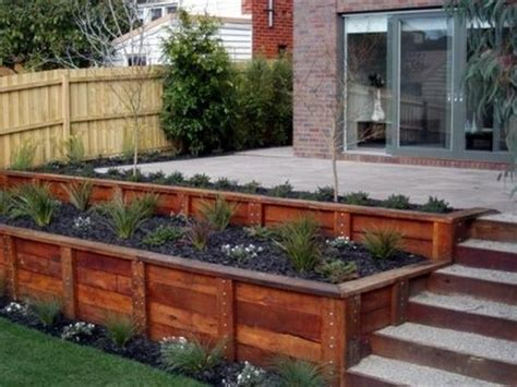 wood retaining wall ideas fence wood