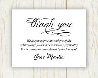 thank you card template for funeral thank you note for funeral gift basket gift ftempo