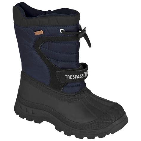 winter boots for boys trespass kukun pull on snow boots boys