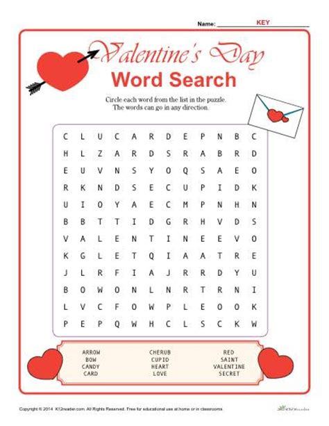 printable valentine word search 1st grade valentine s day word search activity