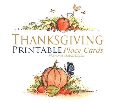 Free Place Card Templates For Thanksgiving by 6 Best Images Of Free Printable Thanksgiving Placecards