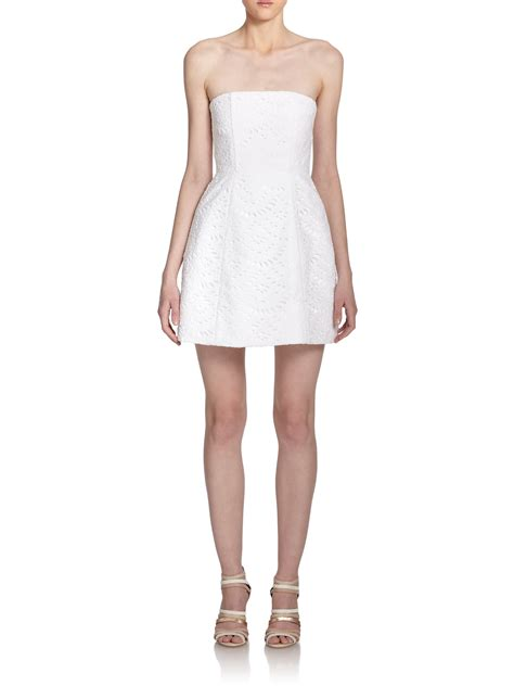 White Dress Pantai S salma strapless eyelet dress in white lyst