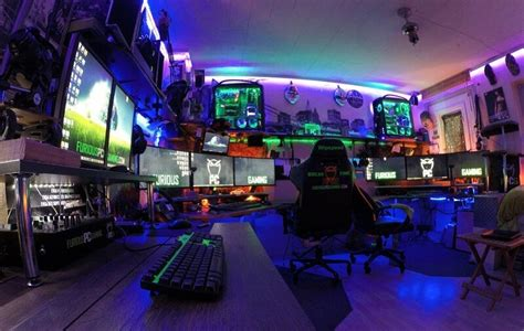 Man Cave Bar by This Gamer Built A Gaming Room That Glows Like The Sun