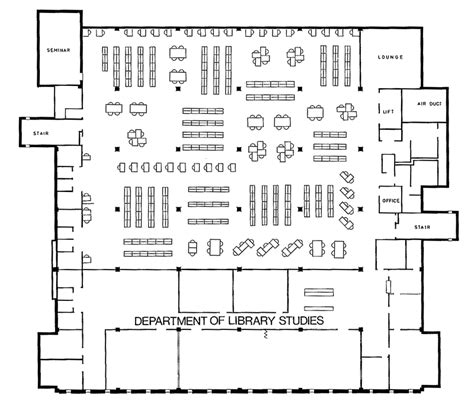 1972 2012 floor plans of robertson library
