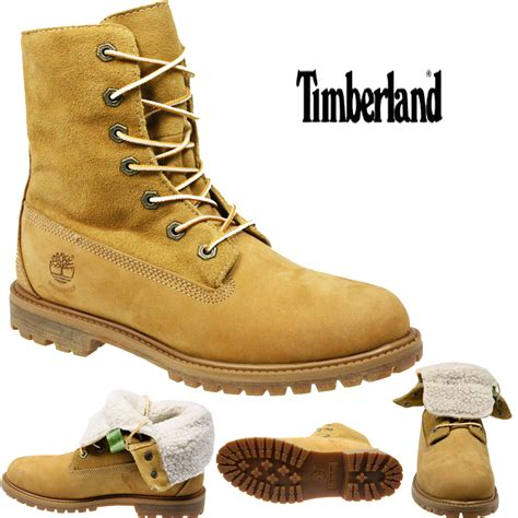 timberland boots with fur womens timberland 21689 fur lined winter waterproof wheat
