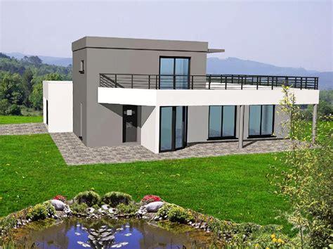 Maisons Toit Terrasse by Maison Toit Terrasse Plan Maison Plain Pied Gratuit Toit