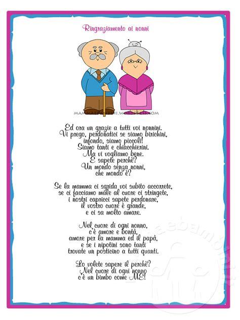 testo sui nonni poesia sui nonni con cornice i nonni mamma e bambini
