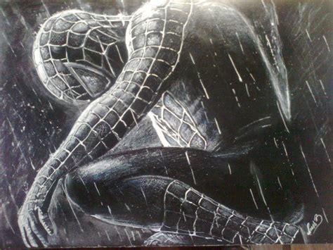 imagenes a blanco y negro de spiderman spiderman mi dibujo en fondo negro taringa