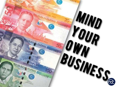 your own service mind your own business 2 ptr richard nillo 630pm evening service