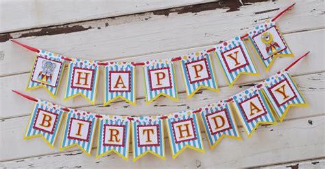 Handmade Happy Birthday Banner - circus happy birthday banner with name boy 1st birthday