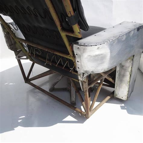 aircraft chairs  leather  aluminum  stdibs