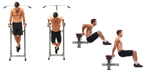 dips bench the 40 best body weight exercises to build muscle blast fat anywhere exercise lists