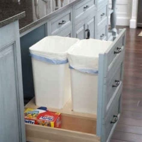 kitchen trash can ideas trash cans storage organization ideas