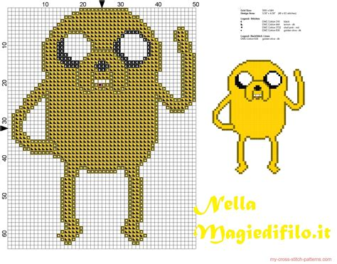 pattern hora html jack adventure time simple cross stitch pattern