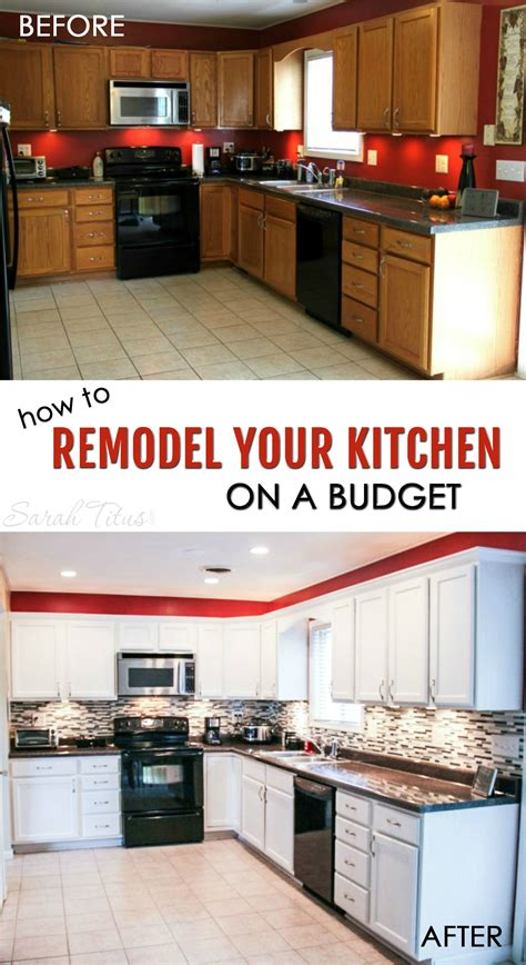 how to redo kitchen cabinets on a budget how to remodel your kitchen on a budget sarah titus