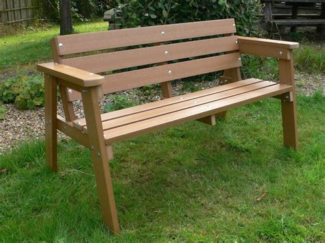 make garden bench recycled plastic wood 100 x 30mm