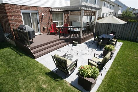 backyard patios and decks patio and deck combination deck and patio combos