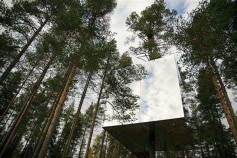 tree hotel sweden treehotel recline in pine nowness