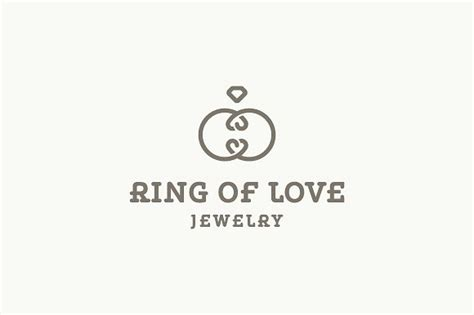 Eheringe Logo by Ring Of Jewelry Logo Logo Templates Creative Market