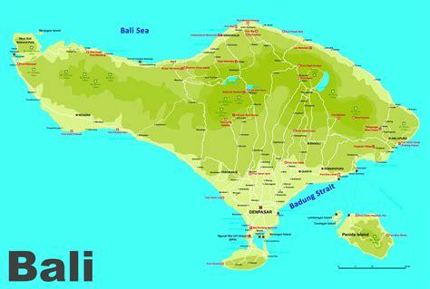 printable road map of bali bali road map