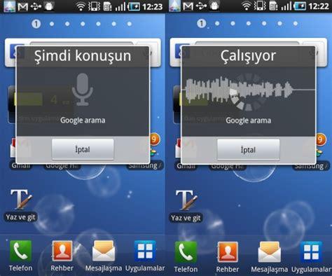 voice search android sesli arama hizmeti voice search ık t 252 rk 231 e log