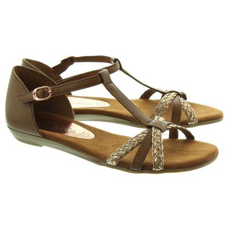 sandals in tamaris 28137 flat sandals in in