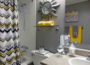 Yellow And Grey Bathroom Decor » Home Design 2017