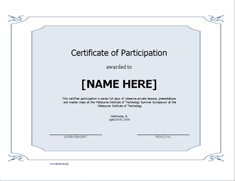 attendance certificate samples fresh sample certificates to download