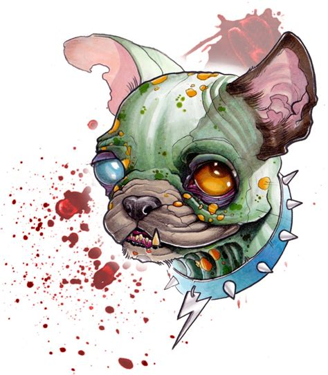 zombie french bulldog work pinterest