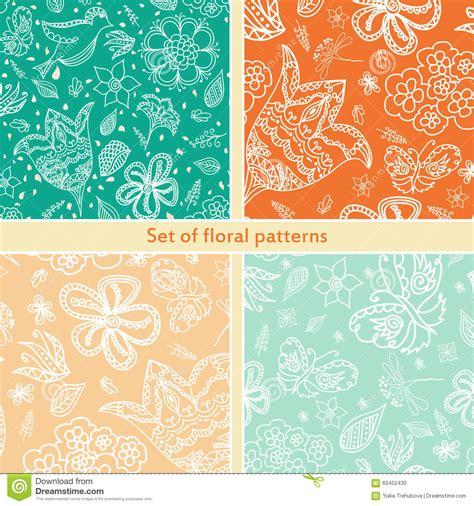 vector pattern set vector seamless retro pattern design set cartoon vector