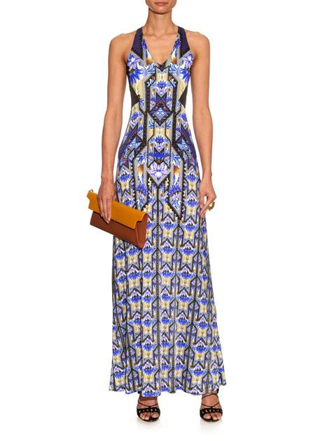 Adidas Maxi Dress lyst adidas originals botanist jersey maxi dress in blue