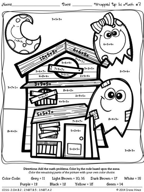 halloween coloring pages math color by the number code wrapped up in math halloween