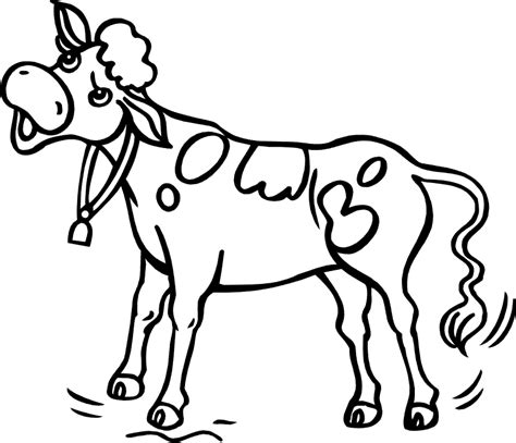 free coloring page cow free coloring pages for kids coloring cow clipart best