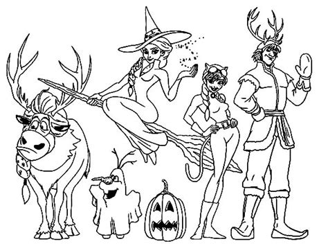 coloring pages frozen halloween download online coloring pages for free part 27