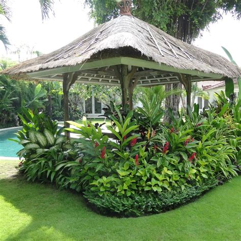 tropical patio design tropical backyard landscaping ideas