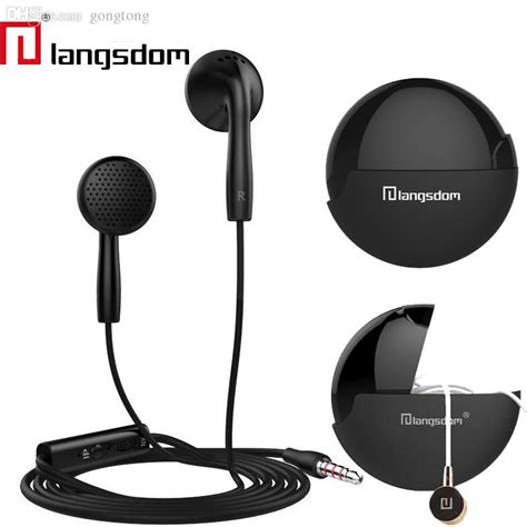 Headset Xiomi Stereo Hf Xiomi Diskon wholesale langsdom in2 flat ear earphones 3 5mm earbuds stereo bass headset with
