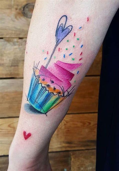 small cupcake tattoos simona blanar watercolor cupcake tattoos