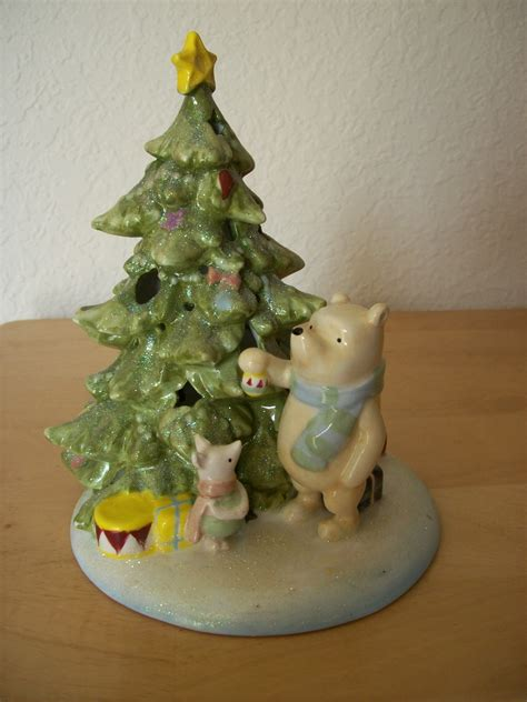 disney classic winnie the pooh ceramic lighted christmas