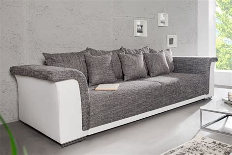 design big xl sofa bellina hellgrau strukturstoff wei 223