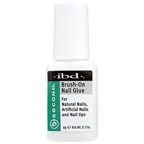 Nail Glue ibd 5 second brush on nail glue
