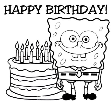 happy birthday coloring pages that you can print happy birthday to print clipart best