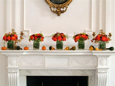 warm ideas for your autumn fireplace mantel