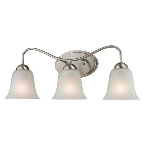 brushed nickel bathroom light bar titan lighting conway 3 light brushed nickel wall mount