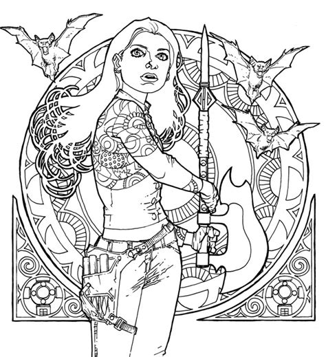 Vire Coloring Pages Online | buffy the vire slayer coloring pages murderthestout