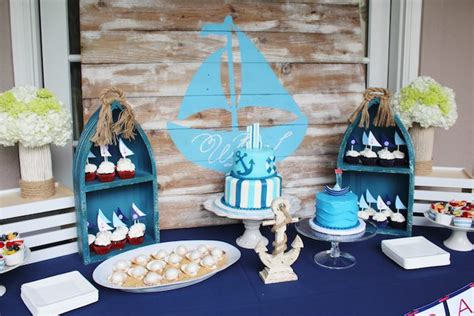 Cute Baby Shower Cakes For A Boy by Kara S Party Ideas Nautical 1st Birthday Party