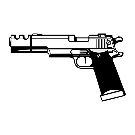 hand gun decal style 1 photomal com