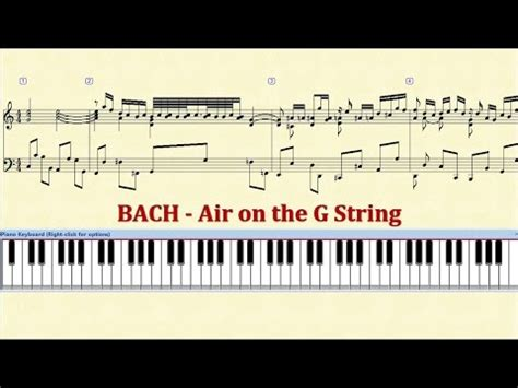 bach air on the g string piano tutorial j s bach air on the g string piano doovi